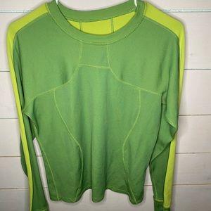 Green Lululemon long sleeve workout shirt